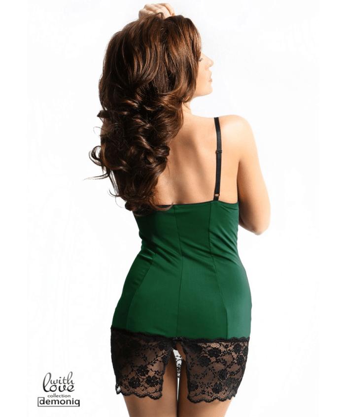 Demoniq Rachel Dress Grön bakifrån