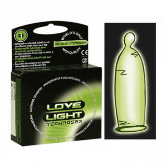 Bra preventivmedel - Självlysande kondomer!
