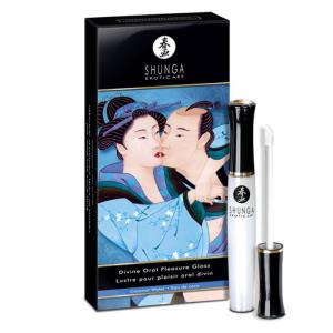 Shunga Oral Pleasure Lipgloss för orala nöjen och ingen killen eller man kan stå emot!