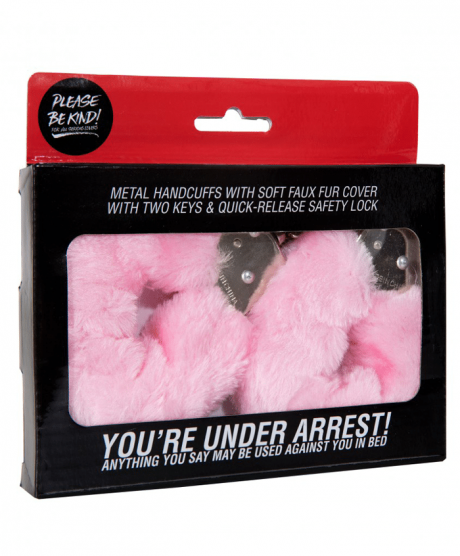 Pink Furry Cuffs rosa handklovar