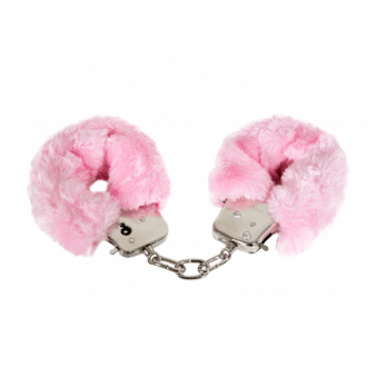 Pink Furry Cuffs rosa handbojor!