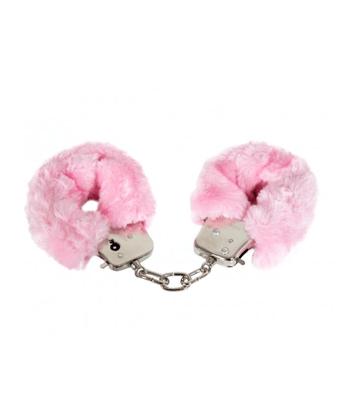 Pink Furry Cuffs rosa handbojor!