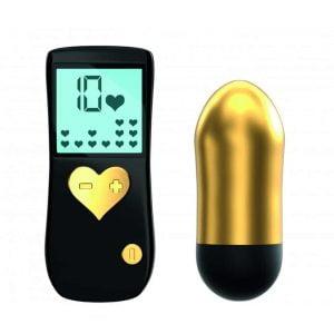 Gold Cry Baby är trådlös, innovativ LED-display och 10 vibrationsprogram!