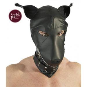 Hundmask från Fetish Collection! Dog Hood passar för olika BDSM-lekar!