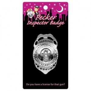 Pecker Inspector Badge från Kheper Games: har du licens för det vapnet?