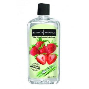 Glidmedel med jordgubbssmak från Intimate Organics är 100 % organiskt!