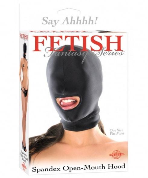 Sexmask för BDSM-fanatiker med öppen mun! Vem är ditt objekt?