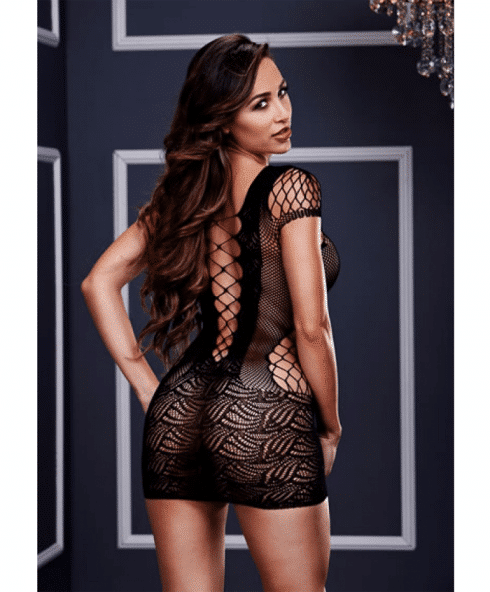 Baci Corset Front Lace Mini Dress snett bakifrån