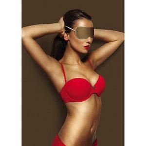 Lyxig ögonmask från Shots i brun läder - Vem vill du förblinda?