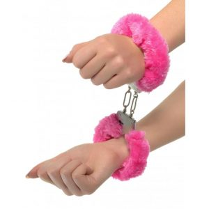 Handbojor för sex med Neon Furry Cuffs från Pipedream! Utforska BDSM!